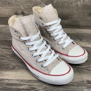 Converse CTAS Natural Soft Knit High Top Sneakers